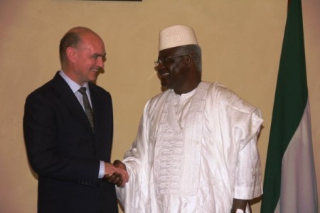 British High Commissioner - Peter West and president koroma