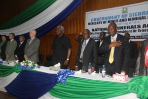 President koroma launches NMA with Marah