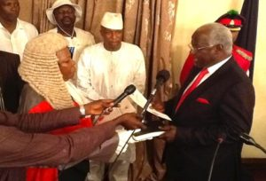 President-Koroma-taking-the-oath-of-office-for-the-second-time