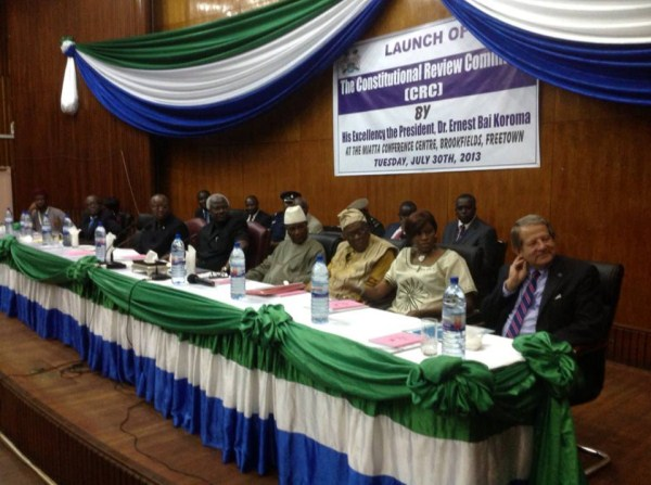 president koroma at the constitution review2