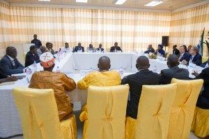 Ban ki moon meeting political parties in Freetown - 050314