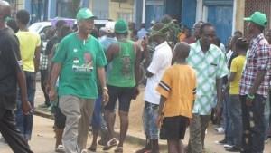 Sama Banya campaigning in Kenema