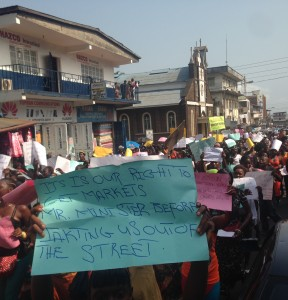 Freetown market women protest - 3 Jan 2013 - politico
