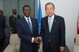 obiang and Ban ki moon