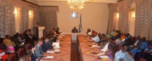president koroma engages partners for ebola