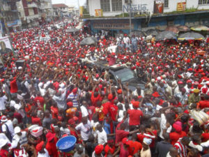 APC supporters in Freetown - 111012