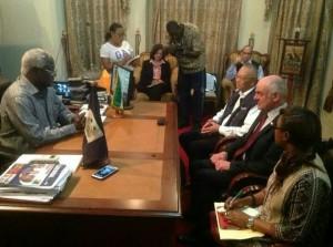 Ebola - president koroma with Un chief in president