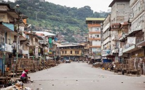 Freetown falling apart - ebola lockdown