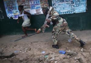 ebola riot