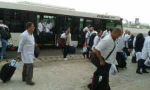 Cuban doctors arrive in Freetown2