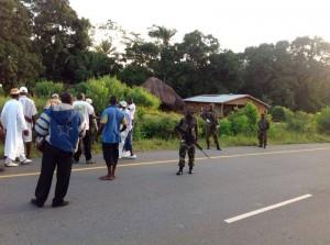 Ebola rioting