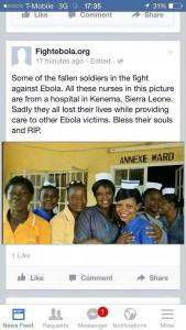 Nurses in sierra leone died of Ebola