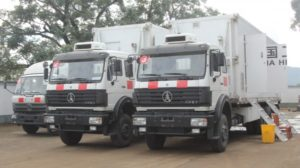 Ebola mobile chinese labs at Jui treatment centre
