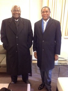 President koroma and Alpha kanu in Brussels Feb 2015