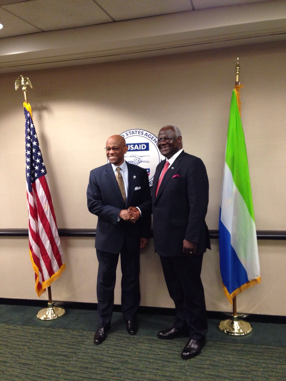 president koroma at USAID - 15 April 2015