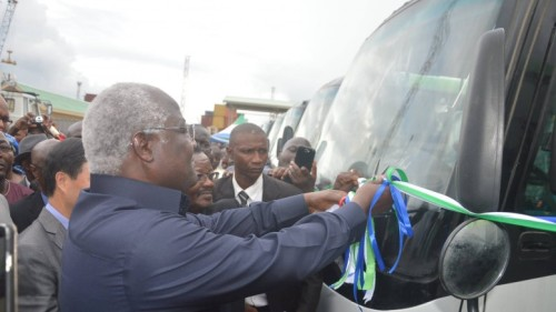Koroma commissions 100 buses