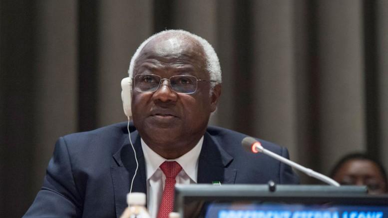 President koroma at UN post ebola conf