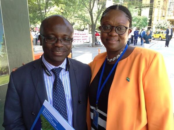 Mustapha Wai  and Sylvia Blyden