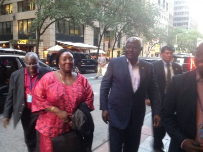 President Koroma and First Lady  delegation arrive in New York 70th UN General Assembly