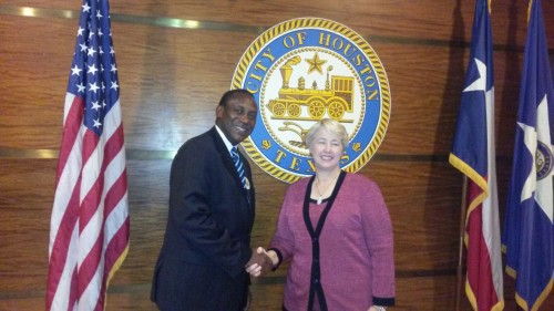 kandeh Yumkella and Mayor of Houston Texas – 2509151
