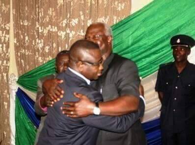 Bio meets president Koroma at state House – 12 October 2015