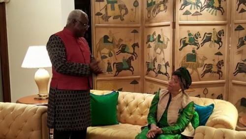India Africa summit - presidents in their Indian fashionwear