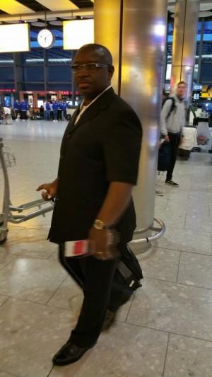 Maada Bio at Heathrow Airport – March 2015
