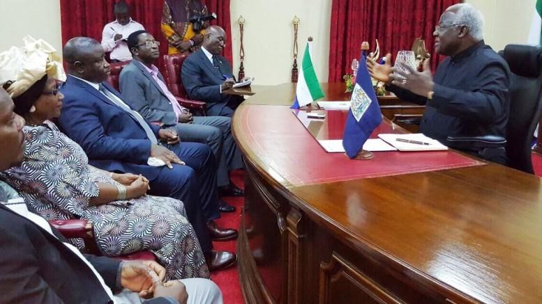 Maada Bio visits president koroma at State House - 12 october 2015