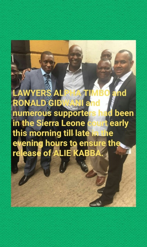 Alie Kabba free on bail today 22 Jan 2016