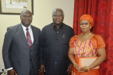 Mr and Mrs Joseph Kamara with president koroma - Jan 2016