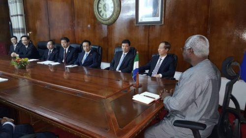 president Koroma and his chinese comrades - 19 Jan 2016