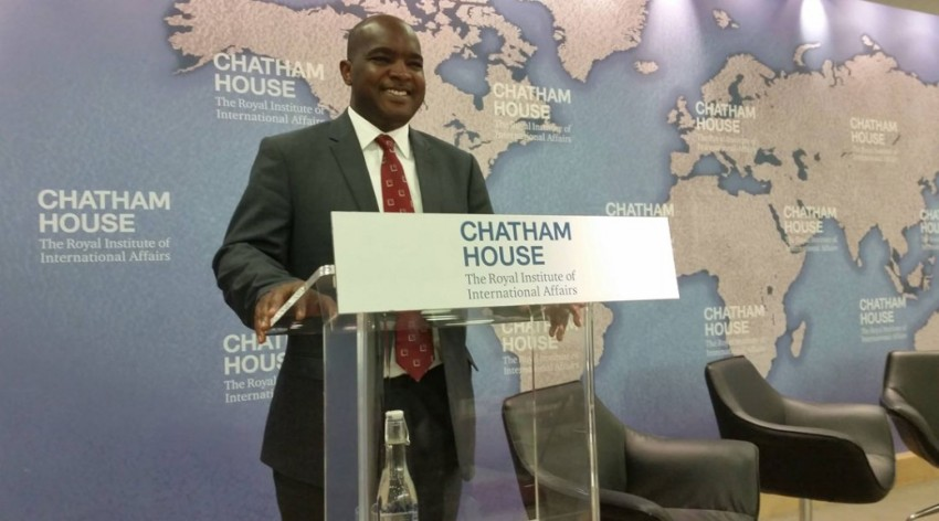 Alie Kabba at Chatham House