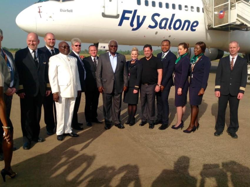 President Koroma welcomed Fly salone