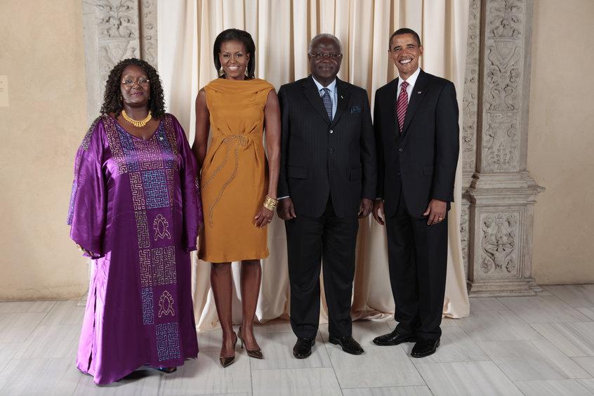President and Mrs Koroma at the White House
