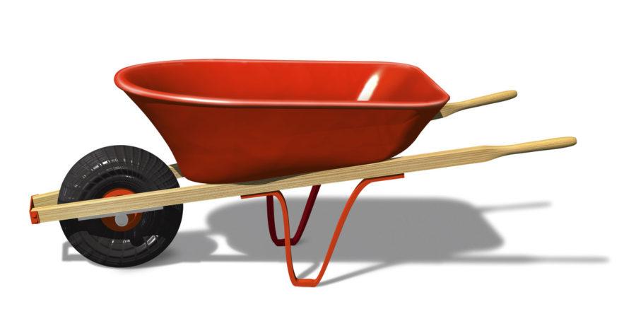 Empty Red Wheelbarrow
