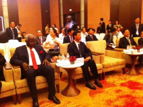 president koroma in china - briefing