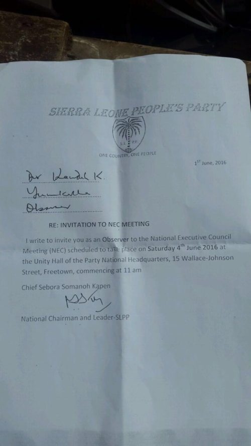 Kapen letter of invite to aspirants - 4 Hune 2016