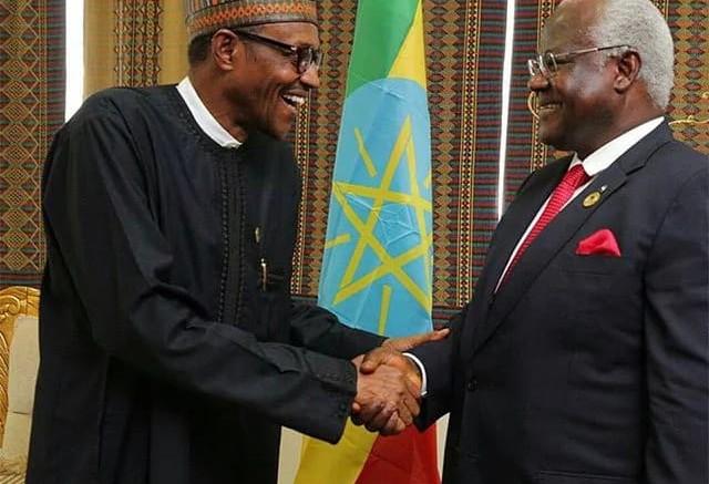 President Koroma and president Buhari of Nigeria