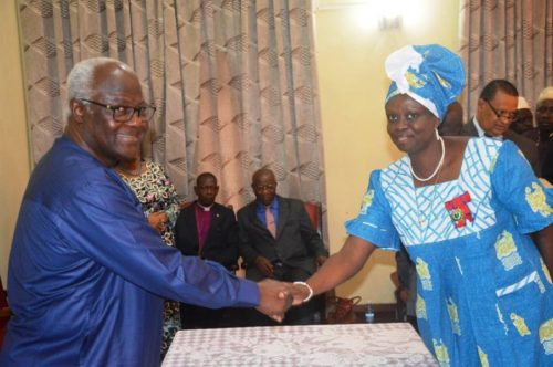 President Koroma welcomes Sylvia Blyden