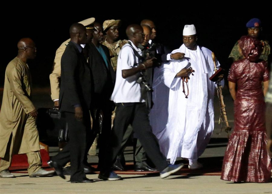 Jammeh leaves the soil of Gambia