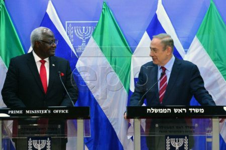 President Koroma in Israel