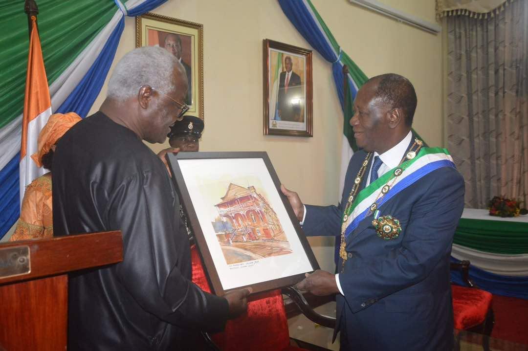 President Koroma meets Ivorian president Alassane Ouattara 2