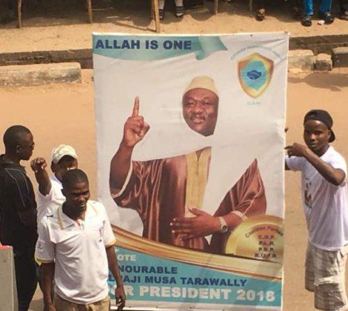 Musa Tarawallie Islamist party 1