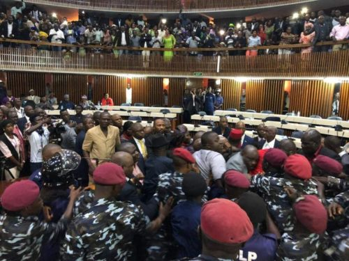 Opening of parliament – police stormed in