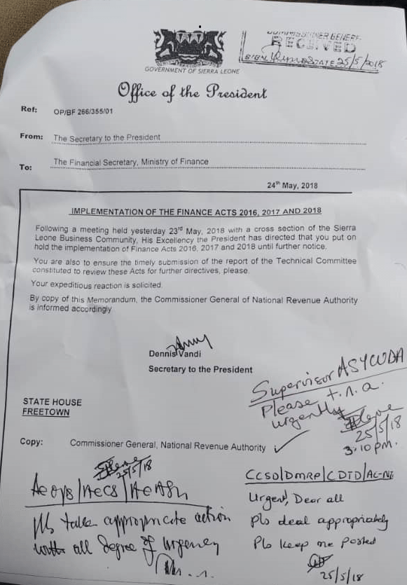 secretary to president erronous leaked memo2