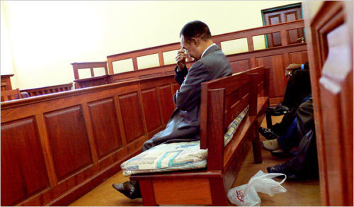 Chiluba in court
