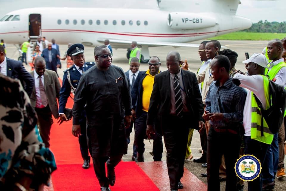 president Bio returns from Togo 1