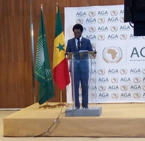 Francis Ben Kaifala speaking at AU youth conference44