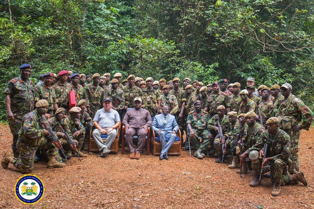 President Bio at the Guma Jungle Training 2