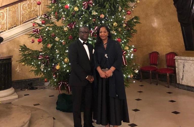 High Commissioner Tamba Lamina and Mrs Lamina at christmas 2018 – 2